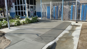Concrete Slab School Bike Pad