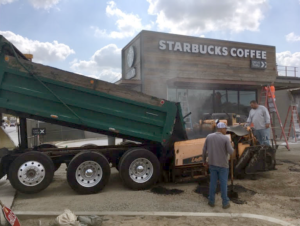 Paving Starbucks Coffee